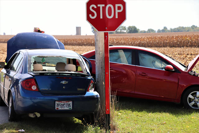 Two people were injured Sunday in a crash outside of Gettysburg.