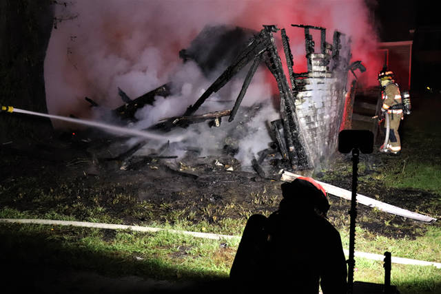 Crews were able to quickly knock down and contain the fire, but the garage itself was a complete loss during a fire at approximately 2:45 a.m. Wednesday in Greenville.