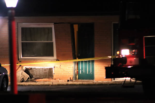 An 84-year-old woman crashed into the Stardust Motel on Tuesday evening.