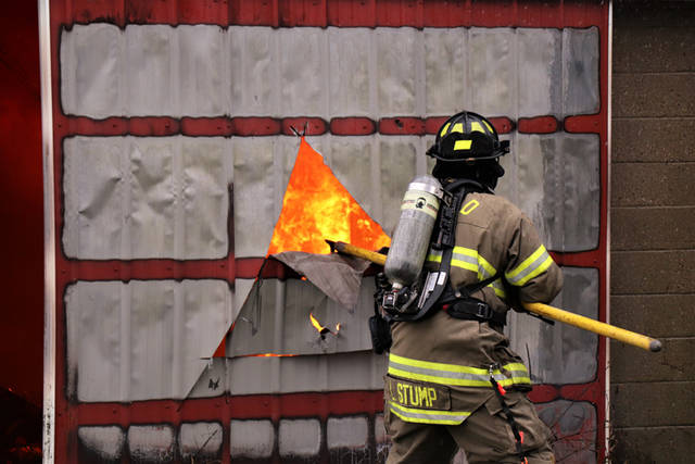 According to authorities on the scene, a multi-level barn containing numerous bales of hay caught fire, which quickly spread throughout the entire structure on Tuesday morning.
