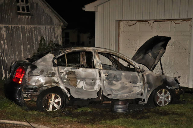 A vehicle had been sitting disabled since December of 2017 caught fire at approximately 1 a.m. Tuesday in Greenville.