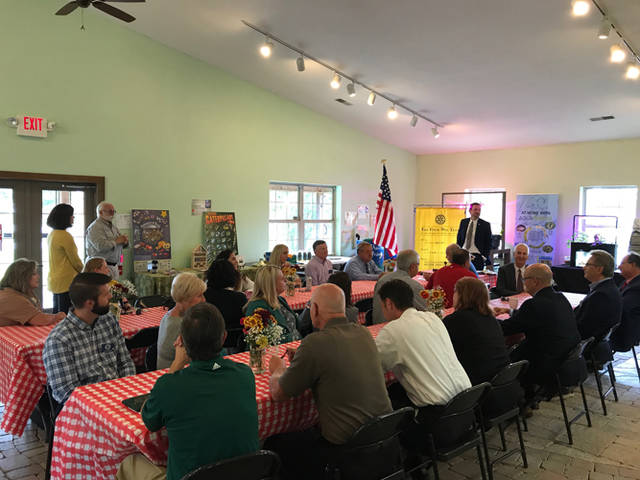 Greenville Rotary recently held its Tuesday gathering at the Darke County Parks' new Bish Discovery Center.