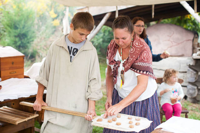 Full loaves of white bread, wheat bread, rye bread, white herb bread or ginger sorghum molasses cookies will be available for a donation during Prairie Days in the General Store.