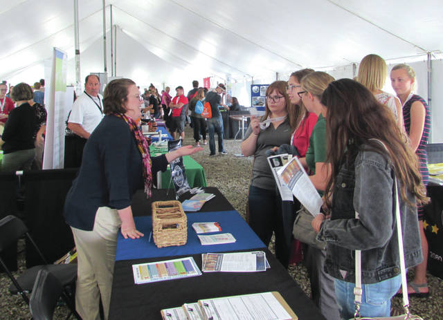 Students from 24 school districts and representatives from 110 local companies attended the career fair event on Wednesday afternoon at Eldora Speedway.