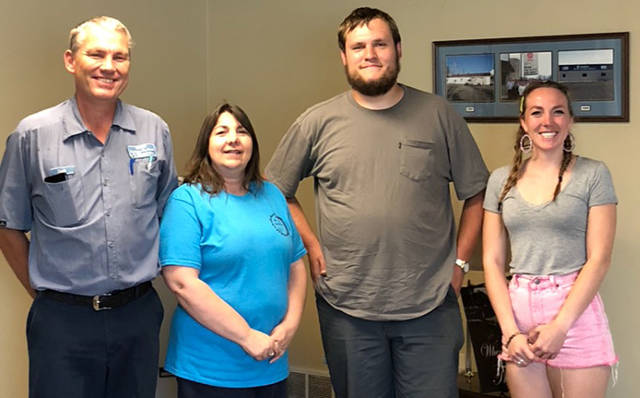 The Sam Barga Memorial Foundation awarded a $1,500 HVAC scholarship to Ansonia High School graduate Cody Stump. Pictured (l-r) are Scott Barga, Linda Barga, Cody Stump and Sereena Barga.