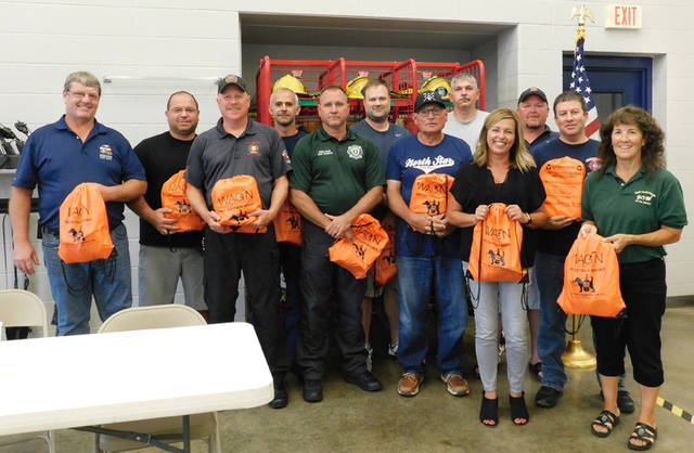 The Darke County Friends of the Shelter donated 22 Wag'N 02 Fur Life Pet Oxygen Mask Kits to 10 EMS and 12 fire departments in Darke County.