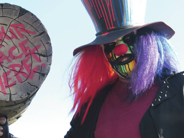 Massacre Mill Haunted Trail is one of Darke County Steam Threshers' biggest fundraisers throughout the year. The homicidal clown Mad Splatter is one of the main attractions of Massacre Mill, which is located at the corner of U.S. 127 and Reed Road in the York Woods.