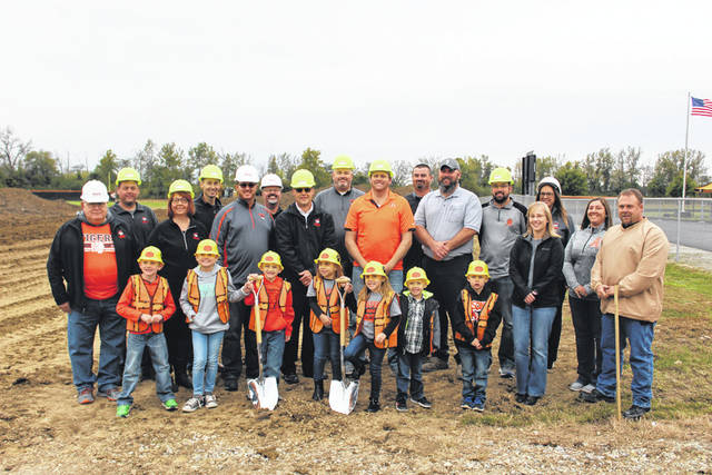 Ansonia Local Schools broke ground Friday on its $2.8 million Preschool and Athletic Fieldhouse project. The school board, administration, faculty, students and members of the community were on hand to see the construction site and thank donors.