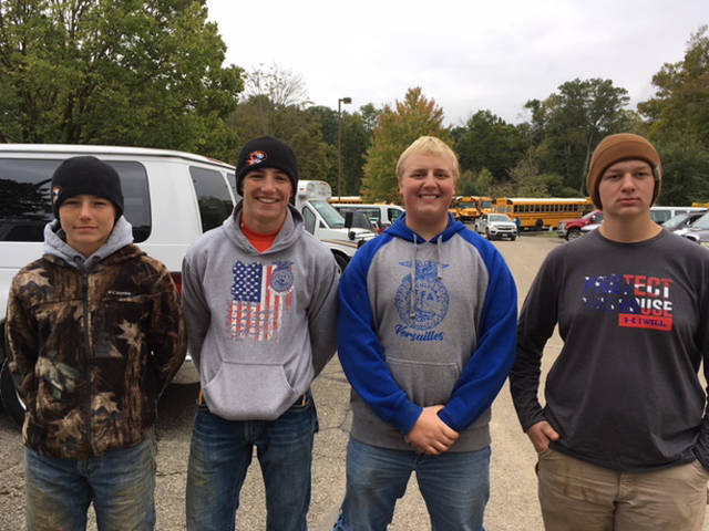 Versailles FFA's 10th place soil team consisted of Caleb Kaiser, Alex Kaiser, Dallas Hess and Jacob Wuebker.