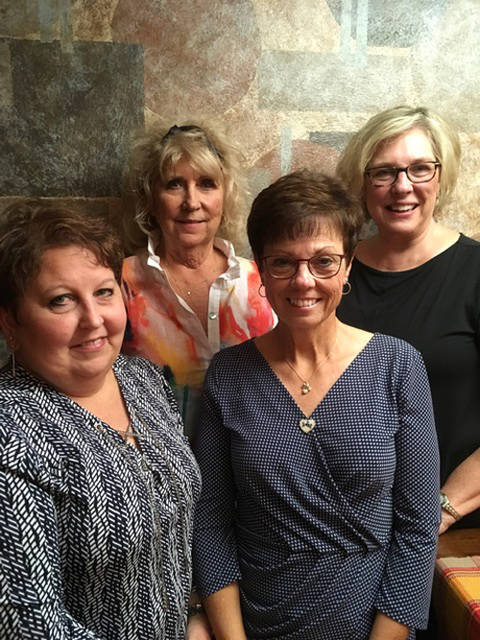 The Ladybug Garden Club officers for 2018-20 are (l-r) President Cathy Detrick, Treasurer Becky Collins, Secretary Dawn Hissong and Vice President Irma Heiser. The club is active in the community with participation in flower shows, planting and maintaining the Darke County Fairgrounds flower beds, the Greenville traffic circle, participating in the Ohio Association of Garden Clubs Exhibitors and Judges Schools in Columbus, decorating the Wayne Hospital lobby at the holidays, decorating a tree at the Garst Museum and sponsoring involvement in the Butterflies Junior Garden Club. The Ladybug Garden Club participates in Arbor Day activities and encourages public beautification within the community and rewards residents for their hard work.