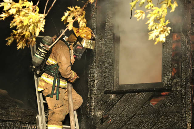 A house that had been vacant for multiple years and had no electricity or any other utilities running to it was destroyed in a Tuesday night fire.