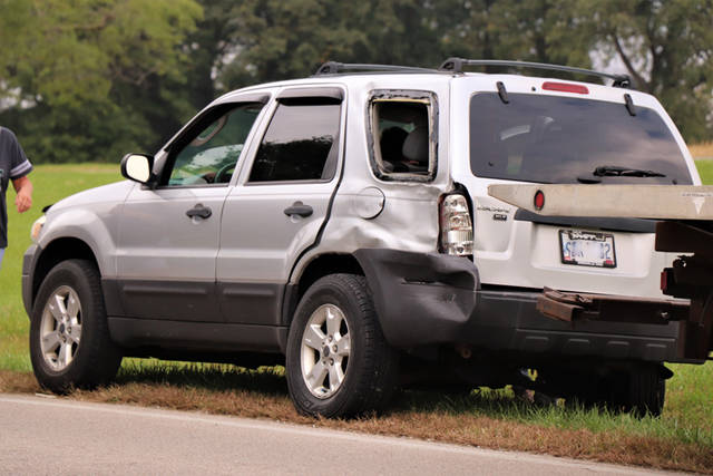 Three vehicles were involved in a crash on Tuesday afternoon.