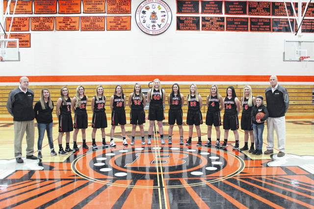The 2018-19 Bradford girls basketball team.