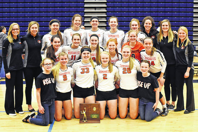The Versailles Tigers are the 2018 Division III regional champions after defeating Marion Pleasant in four sets on Saturday.