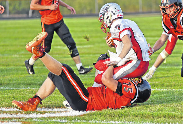 Ansonia's Andrew Rowland was named to both the first team offense and defense in the Cross County Conference.