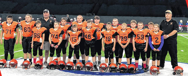 The Ansonia Youth Football 5th and 6th grade team recently participated in the Lucas Oil Red Zone Games at Lucas Oil Stadium in Indianapolis.