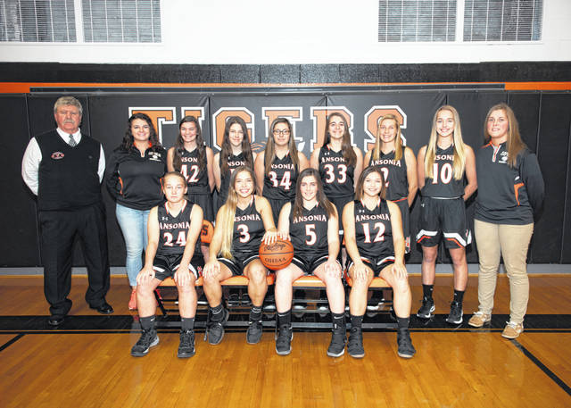 The 2018-19 Ansonia Tigers girls basketball team.