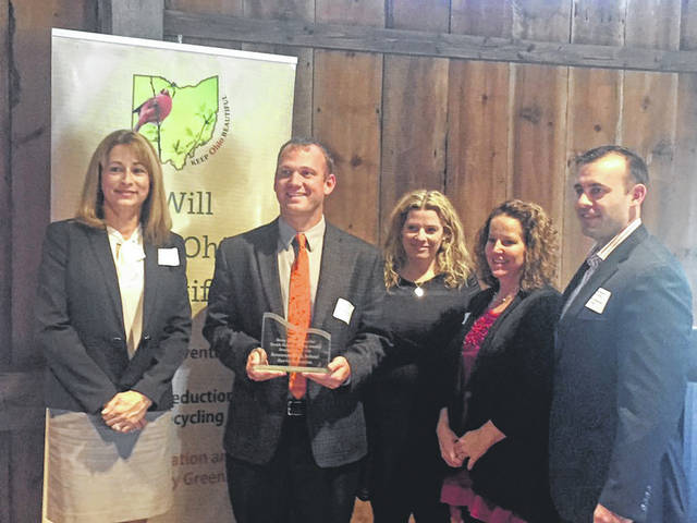 Serve Arcanum was presented with an award by Keep Ohio Beautiful on Nov. 7 in Columbus.