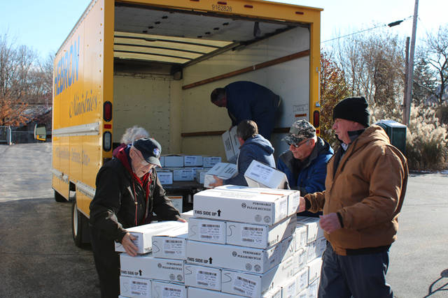 Cooper Farms donated 15,642 pounds of sliced and bulk deli items including turkey, chicken and ham that were delivered by team members of Cooper Farms.