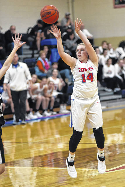 Emma Printz scored 21 points to lead Tri-Village to a 69-30 win over Springfield Greenon Friday night in the Bill Burkett Tournament.