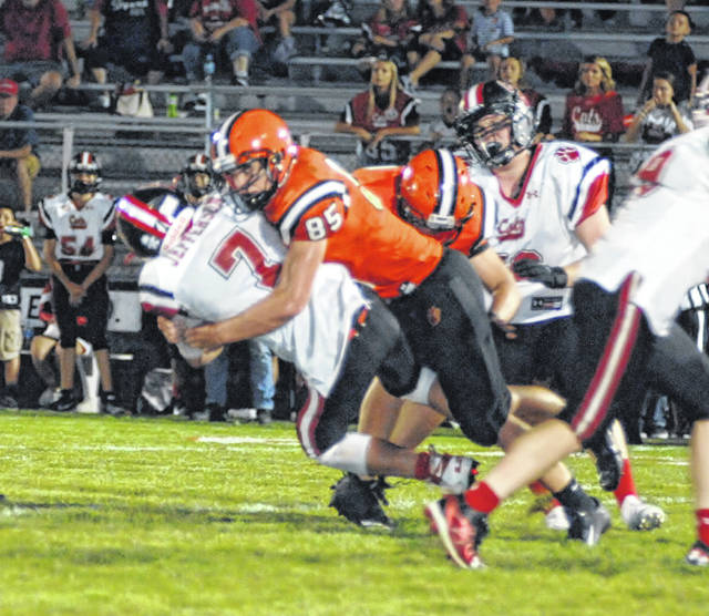 Versailles' Evan Hiestand was named to both the first team defense and second team offense in the Midwest Athletic Conference.