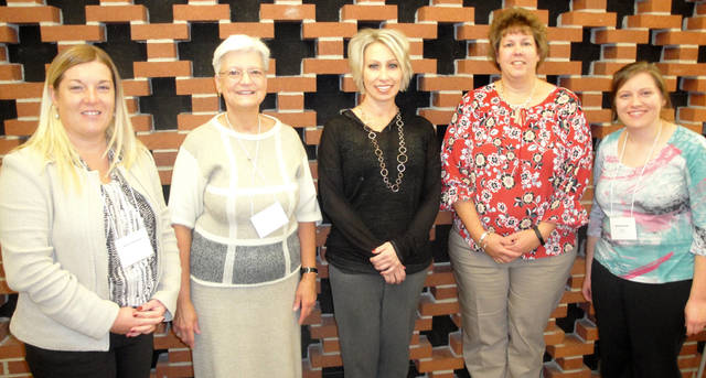 Speaker Jodie Bohman (center) is pictured with Greenville Business & Professional Women's Club members (l-r) Kristi Strawser, Peggy Foutz, Dorothy Poeppelman and Michelle Hook.