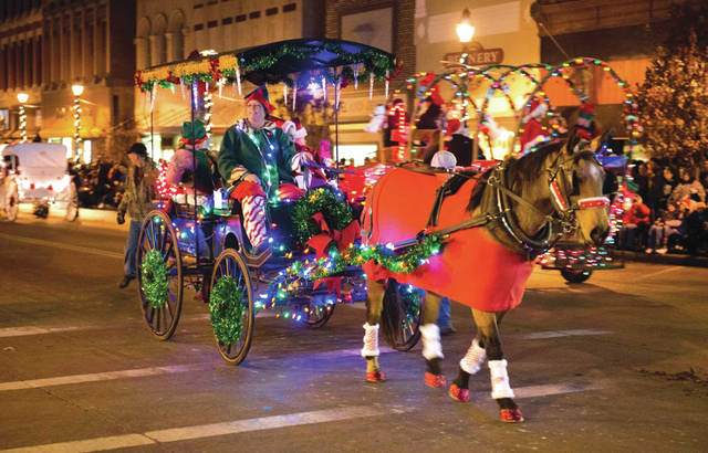The 15th annual Hometown Holiday Horse Parade took place Saturday evening. More than 90 horses from Ohio, Kentucky, Indiana and Tennessee participated in the event, which brings thousands of spectators to downtown Greenville each year.