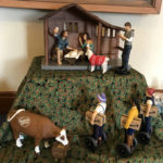 Modern Nativity exhibit on display at the Shrine