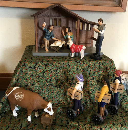 "The Maria Stein Shrine of the Holy Relics is hosting a Nativity exhibit from the collection of Tim and Katheleen Nealeigh titled ""Modern Takes on a Timeless Theme."""