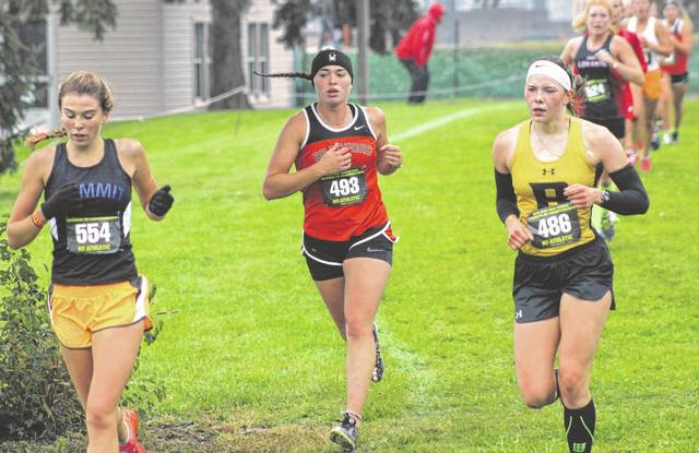 Sophomore Skipp Miller will help lead the Bradford girls cross country team in Saturday's Division III girls state cross country meet at National Trail Raceway in Hebron. It is the first time the Railroaders have a team at the state meet.