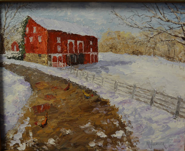 """Snowbound"" by Robert Kroeger is one of the paintings that will be up for bidding during a silent auction held Dec. 2-23."