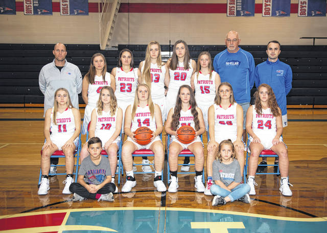 The 2018-19 Tri-Village girls basketball team