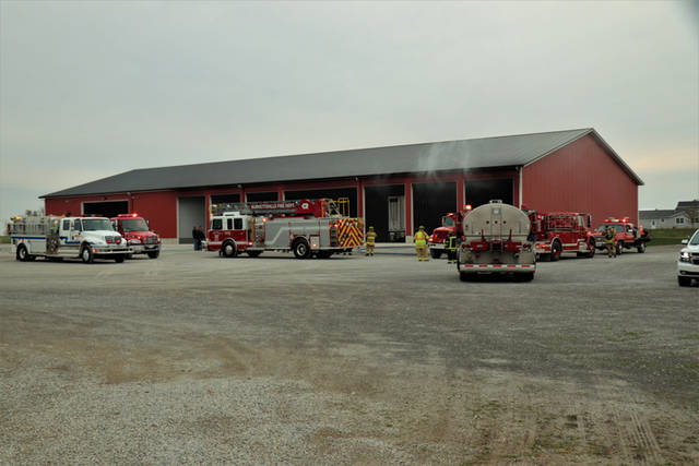 According to authorities on the scene, a semi tractor and livestock trailer was parked in a large multi bay open face barn near North Star when the vehicle erupted in flames. The fire was able to be contained mostly to the semi tractor while only minor damage was reported to the interior of the exposed structure.