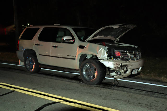 One passenger was transported to Wayne HealthCare following a three-vehicle crash on Friday.