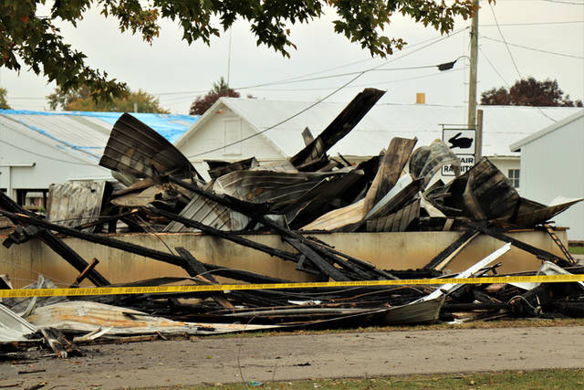 The Darke County Fair Board seated new members and discussed the future of their proposed swine barn project at its monthly meeting Wednesday night. The swine barn was destroyed in an Oct. 25 fire.