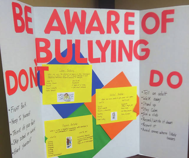 Edison State Community College students delivered a presentation on the signs, types and effects of bullying Tuesday evening at the Greenville Public Library.