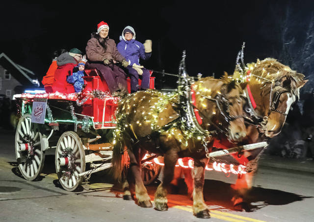 The village of Arcanum held its second annual Christmas Horse Parade Saturday evening.
