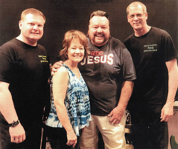 Steven Lake, Christine Bowman, Blaine Bowman and Mike Turner, members of Blaine Bowman and HIS Goodtime Band, are all set to perform Dec. 15 at the Gospel Music Center in Union City, Indiana.