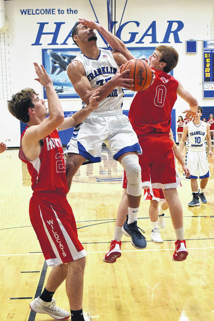 Ethan Conley scored a single-game school record 54 points for Franklin-Monroe on Saturday night as the Jets defeated Houston 92-80 in The Hangar.