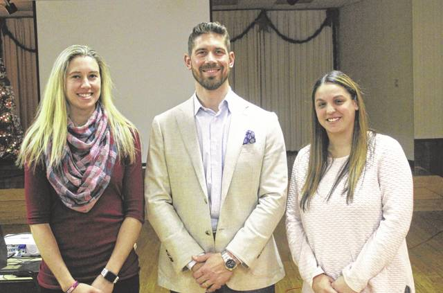 The Greenville Athletic Hall of Fame inducted its three newest members on Saturday as the class of 2018 at its 33rd annual ceremony. Pictured left to right are Macie Blinn, Nick Hiller and Abbie Shell bringing the membership total now to 109 members.