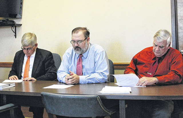 Darke County Commissioners Mike Rhoades, Matt Aultman and Mike Stegall signed off on the county's 2019 appropriations. The county will appropriate more than $22.5 million in general funds and approximately $46.3 million in outside funds for the coming year.