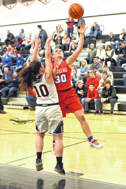 Tri-Village junior Lissa Siler had 19 points in the Lady Patriots Cross County Conference win over host Mississinawa Valley on Thursday.