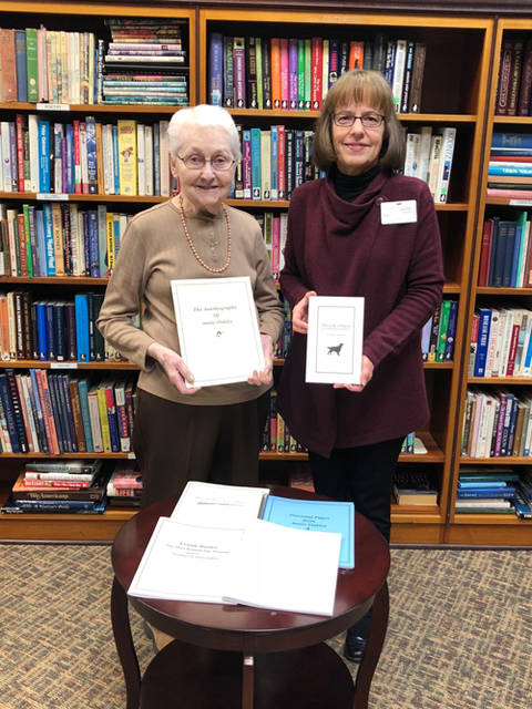 Marilyn Robbins has written five books on the life of Annie Oakley and donated them to the library at Brethren Retirement Community.