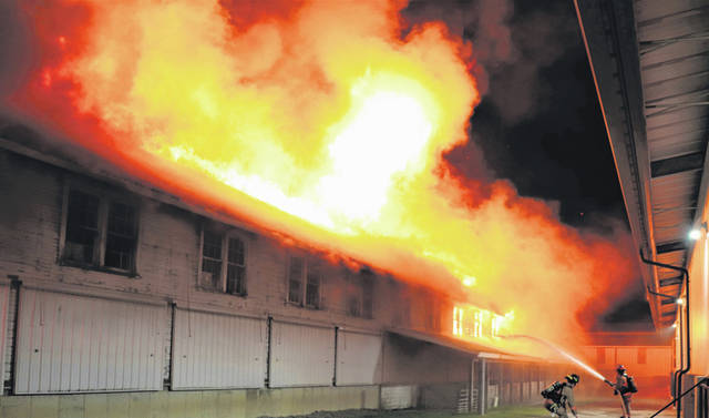 Personnel from the Greenville City Fire Department, Greenville Township Emergency Services, Greenville City Police Department and both Piqua and Burkettsville fire departments responded to the swine barn fire Oct. 25.