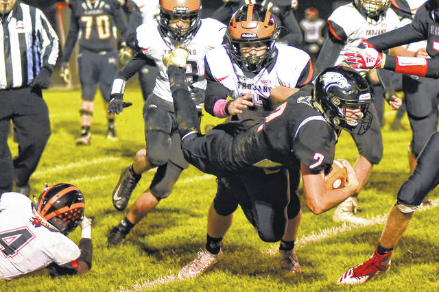 Mississinawa Valley senior quarterback Trent Collins threw for more than 1,300 yards and 17 touchdowns this season. He received many postseason accolades including by named the 2018 Darke County Offensive Player of the Year.