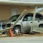 Driver narrowly escapes injury