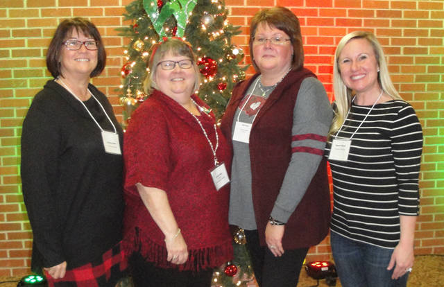 Greenville Business & Professional Women's Club's Christmas meeting was hosted by the Christmas Committee members Vicki Cost, Lindsey Gehret, Leigh Fletcher, Desteni Mason, Kristina Heath and Brenda Miller.