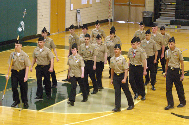 Greenville Senior High School's Navy Junior Reserve Officers Training Corps hosted a Pass-In-Review ceremony on Thursday.