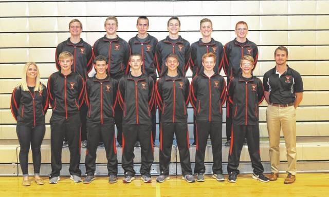 The Versailles boys swim team captured fifth place in the team standings at the recent Lima Holiday Invitational swim meet.