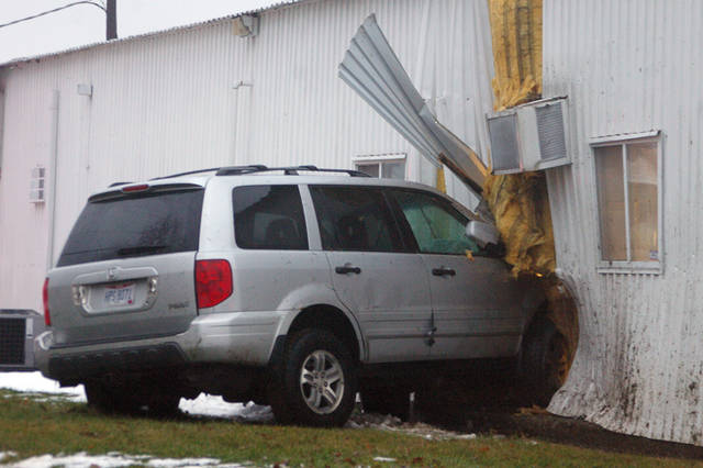 A vehicle crashed into Cope's Distributing Inc. in Greenville shortly before 5:15 p.m. on Wednesday, causing significant damage to the property. According to Lt. Eric Roberts of the Greenville Police Department, initial reports cited failure to control by the driver as the reason for the crash, and it is thought to have been unintentional. Injuries were reported as a result of the crash, but the extent of the injuries is unknown.